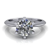 Six Prong Knife Edge Solitaire Engagement Ring 1ct.