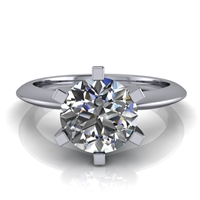 Six Prong Knife Edge Solitaire Engagement Ring 1¼ct.