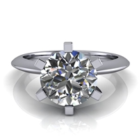 Six Prong Knife Edge Solitaire Engagement Ring 1½ct.