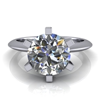 Six Prong Knife Edge Solitaire Engagement Ring 1¾ct.