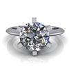 Six Prong Knife Edge Solitaire Engagement Ring 2ct.