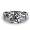 Tapered Baguette Round Brilliant Engagement Ring 1¼ct.