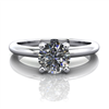 Classic Four Prong Solitaire Engagement Ring 1/2ct.