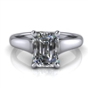 Graduated Trellis Emerald Cut Solitaire Engagement Ring 1¼ct.