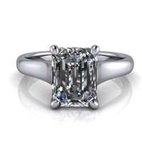 Graduated Trellis Emerald Cut Solitaire Engagement Ring 1½ct.