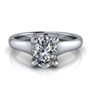Graduated Trellis Oval Cut Solitaire Engagement Ring ¾ct.