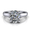 Graduated Trellis Oval Cut Solitaire Engagement Ring 1¼ct.