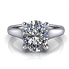 Graduated Trellis Oval Cut Solitaire Engagement Ring 1¾ct.