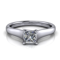 "Graduated Trellis Princess Cut Solitaire Engagement Ring â…""ct."