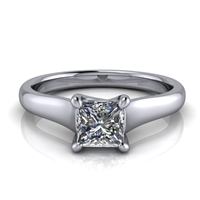 Graduated Trellis Princess Cut Solitaire Engagement Ring ½ct.