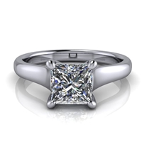 Graduated Trellis Princess Cut Solitaire Engagement Ring 1ct.