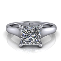 Graduated Trellis Princess Cut Solitaire Engagement Ring 1¼ct.