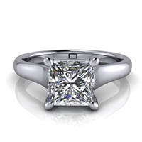 Graduated Trellis Princess Cut Solitaire Engagement Ring 1½ct.
