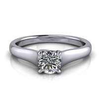 "Graduated Trellis Round Solitaire Engagement Ring â…""ct."