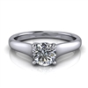 Graduated Trellis Round Brilliant Solitaire Engagement Ring ½ct.