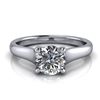 Graduated Trellis Round Brilliant Solitaire Engagement Ring ¾ct.