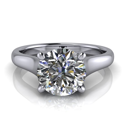 Graduated Trellis Round Brilliant Solitaire Engagement Ring 1½ct.