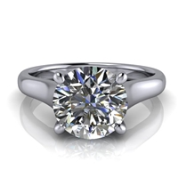 Graduated Trellis Round Brilliant Solitaire Engagement Ring 1¾ct.