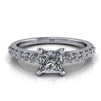 Princess Cut Classic Shared Prong Engagement Ring ½ct.