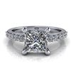Princess Cut Classic Shared Prong Engagement Ring 1½ct.