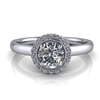 Single Halo Round Brilliant Engagement Ring ½ct.