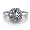Single Halo Round Brilliant Engagement Ring 1ct.