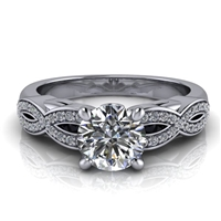 Love Twist Round Engagement Ring with Surprise Diamond ¾ct.