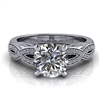 Love Twist Round Engagement Ring with Surprise Diamond 1ct.