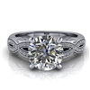 Love Twist Round Engagement Ring with Surprise Diamond 1½ct.