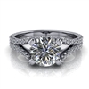 Diamond Wishbone Split Shank Engagement Ring 1ct.