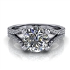 Diamond Wishbone Split Shank Engagement Ring 1¼ct.