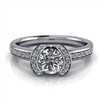 Modern Ribbon Halo Engagement Ring ½ct.