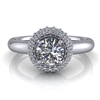 Domed Halo Round Brilliant Engagement Ring ½ct.