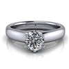 Royal Crown Round Solitaire Engagement Ring ½ct.
