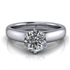 Royal Crown Round Solitaire Engagement Ring ¾ct.