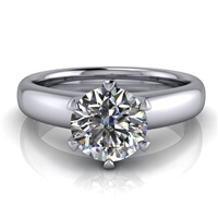Royal Crown Round Solitaire Engagement Ring 1ct.