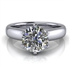 Royal Crown Round Solitaire Engagement Ring 1¼ct.