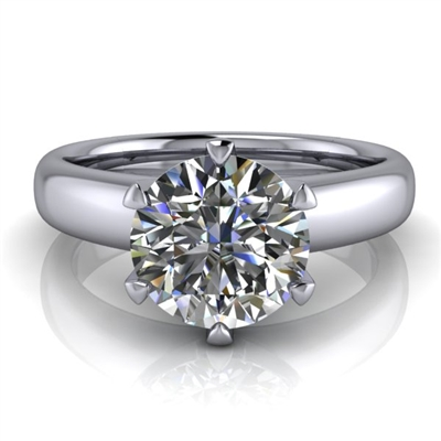 Royal Crown Round Solitaire Engagement Ring 1½ct.