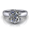 Royal Crown Round Solitaire Engagement Ring 1¾ct.