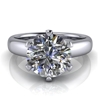 Royal Crown Round Solitaire Engagement Ring 2ct.