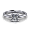 Basket Set Princess Cut Solitaire Engagement Ring ½ct.
