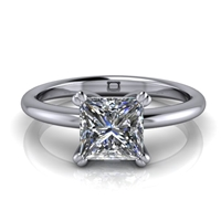 Basket Set Princess Cut Solitaire Engagement Ring 1ct.