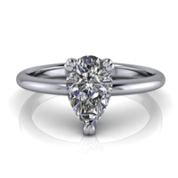 Basket Set Pear Cut Solitaire Engagement Ring ¾ct.