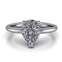 Basket Set Pear Cut Solitaire Engagement Ring 1ct.