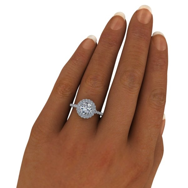 Double Angel Halo Round Brilliant Engagement Ring 1ct. 02452eb9ae82