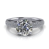 Three Row Pave Engagement Ring 1 1/4ct.