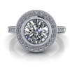 Julia Bezel Set Halo Engagement Ring 1ct.