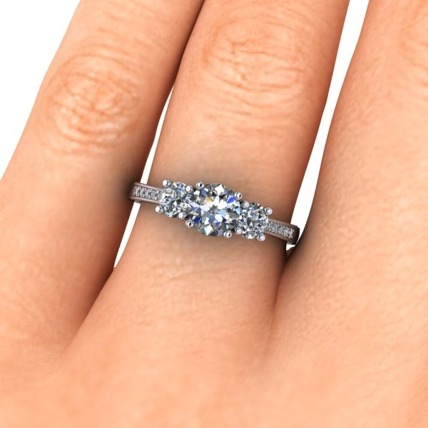 engagement style stone three rings different ritani