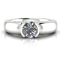 """Harper"" Solitaire Engagement Ring 1/2ct."