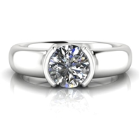 """Harper"" Solitaire Engagement Ring 3/4ct."